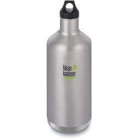 Klean Kanteen Classic Vacuum Insulated Borraccia Tappo 1900ml, brushed stainless